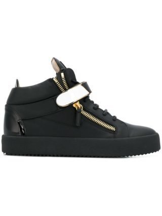 Giuseppe Zanotti Coby mid top sneakers (zwart)
