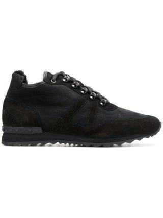 Baldinini studded trim lined sneakers (zwart)