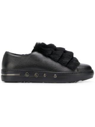 Baldinini sneakers gelaagd met bont (zwart)
