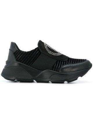 Baldinini slip-on sneakers met strass detail (zwart)