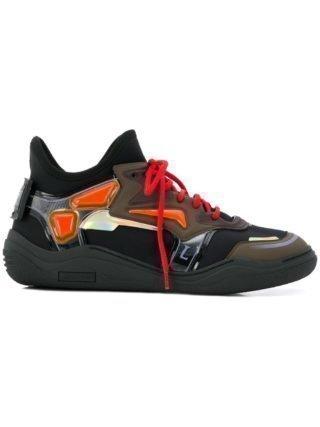 Lanvin contrast panel sneakers (zwart)
