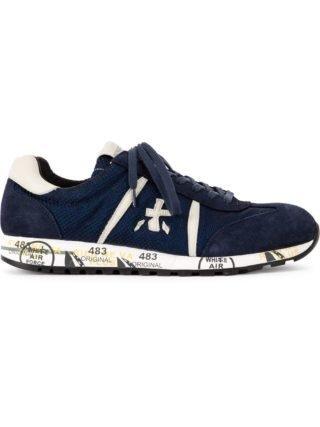 Premiata sneakers met veters (blauw)