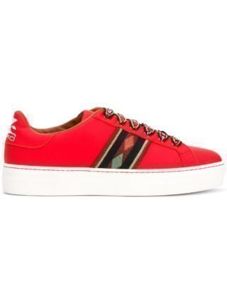 Etro contrasting lace sneakers (rood)