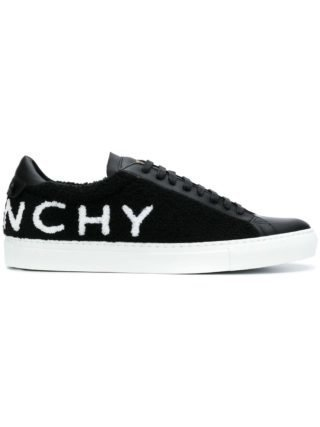 Givenchy back logo flat sneakers (zwart)