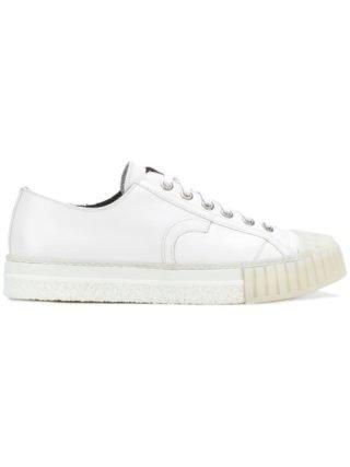 Adieu Paris sneakers met geribbelde zool (wit)