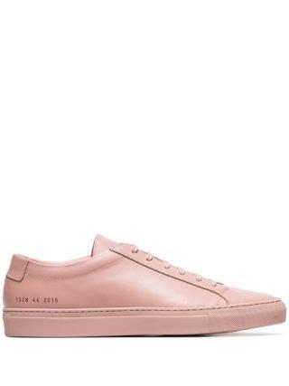 Common Projects Achilles leren sneakers (roze)
