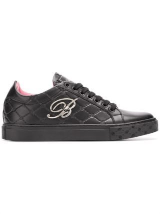 Blumarine sneakers met monogram (zwart)