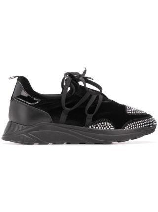 Blumarine sneakers verfraaid met kristallen (zwart)