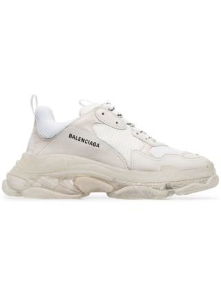 Balenciaga witte Triple S bubble sneakers