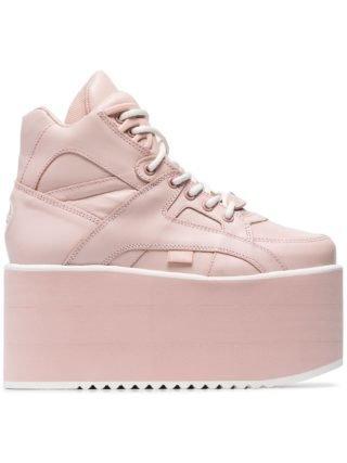 Buffalo roze Classic High Nubuck sneakers met platte zool (roze)