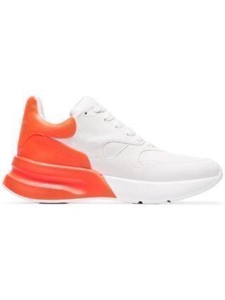 Alexander McQueen Leren hardloop sneakers (wit)