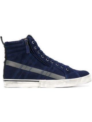 Diesel D-Velows mid lace sneakers - Blauw