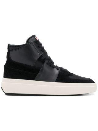 Represent lace-up hi-top sneakers (zwart)