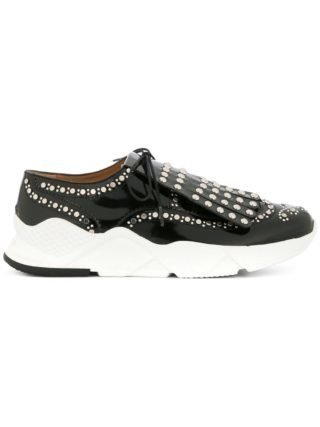Clergerie embellished lace-up sneakers (zwart)