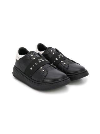 John Richmond Junior logo print sneakers (zwart)