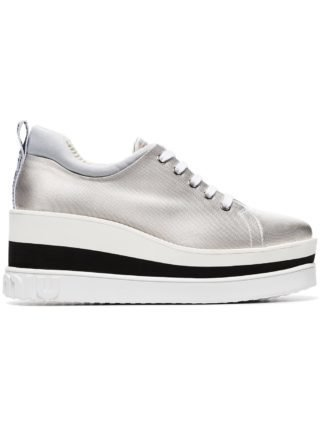 Miu Miu 75 sneakers met dikke zool (grijs)