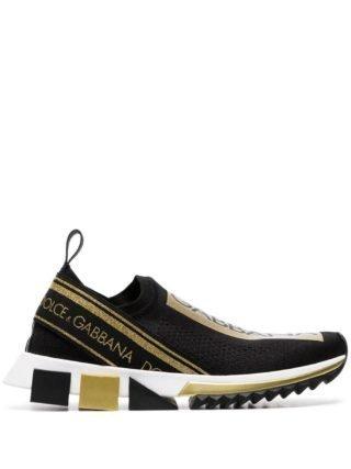 Dolce & Gabbana Atletica slip-on sneakers (zwart)