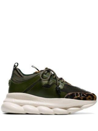 Versace Chain Reaction sneakers met luipaarddessin - Groen