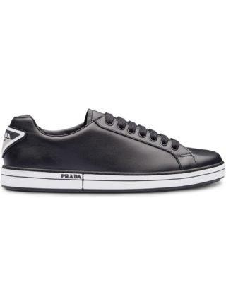 Prada Leather sneakers (zwart)