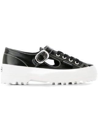Alexa Chung sneakers met geribbelde zool (zwart)