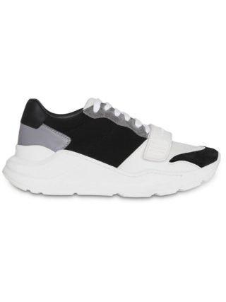 """Burberry """"sneakers van leer, suede en neopreen """" (zwart)"""