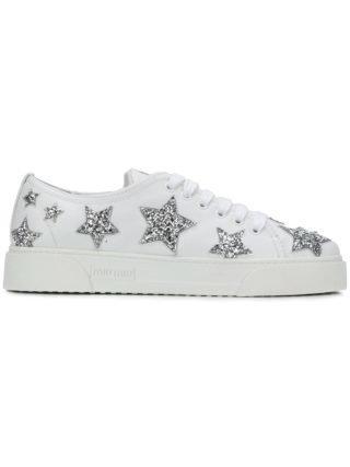 Miu Miu glitter stars sneakers (wit)