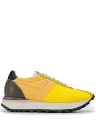 Acne Studios Mixed material sneakers (geel)