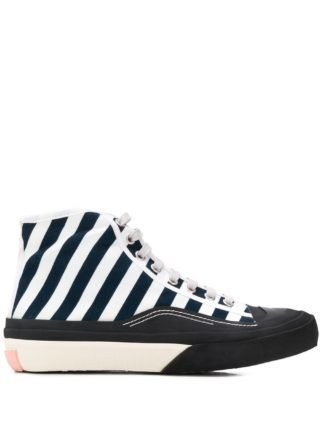 Acne Studios Gestreepte sneakers (blauw)