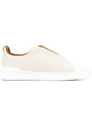 Ermenegildo Zegna XXX instap sneakers (wit)