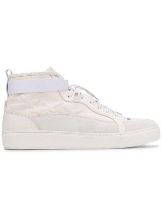 Ermenegildo Zegna XXX elastische high-top sneakers (wit)