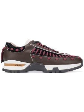 Ermenegildo Zegna XXX sneakers met contrasterende veters (bruin)