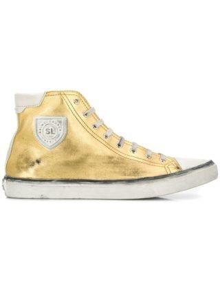 Saint Laurent Bedford high-top sneakers (goud)