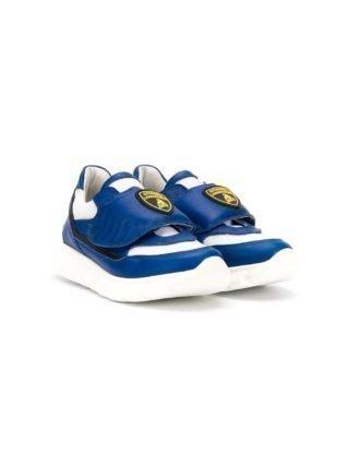 Bumper sneakers met Lamborghini patch (blauw)