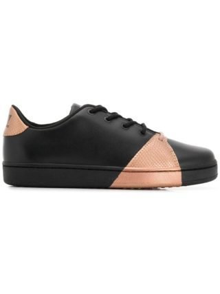 Ea7 Emporio Armani sneakers met colourblocking (zwart)