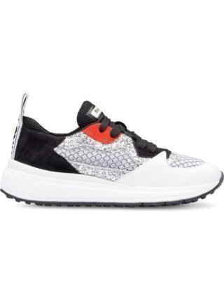 Miu Miu leren sneakers met glitter (wit)