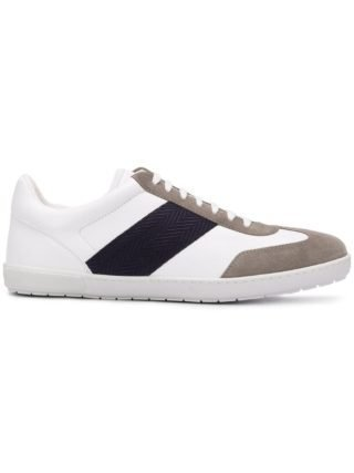 Giorgio Armani sneakers met contrasterend pand (wit)