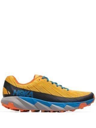 Hoka One One Torrent Trail low-top sneakers (goud/blauw)