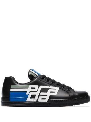 Prada Avenue leren sneakers (zwart)