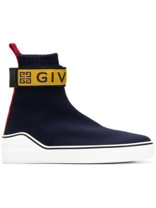 Givenchy soksneakers met logo (blauw)