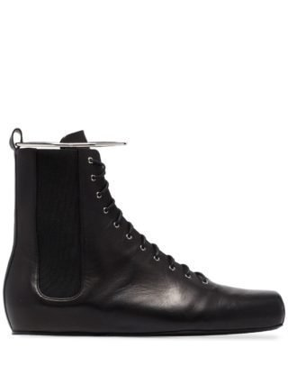 Jil Sander ankle bracelet high-top sneakers (zwart)