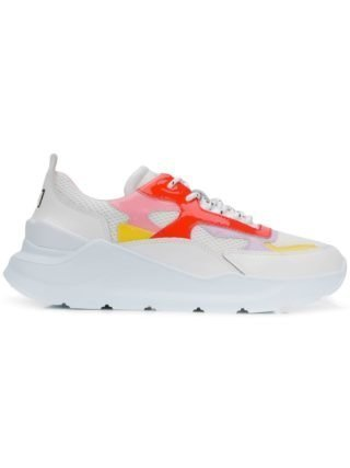 D.A.T.E. sneakers met veter en panelen (wit)