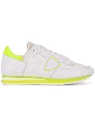Philippe Model Tropez - Mondial Neon Veau sneakers - Wit