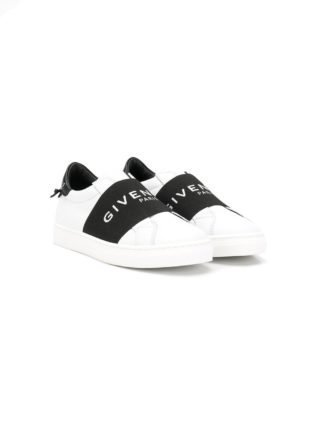 Givenchy Kids sneakers met logoband (wit)