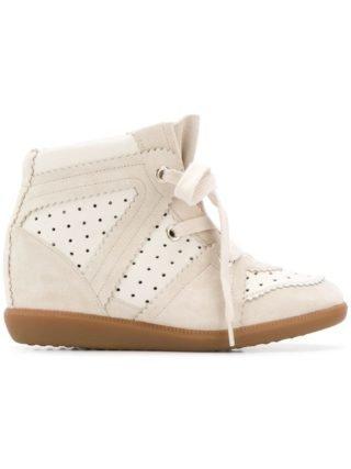 Isabel Marant sneakers met sleehak - Nude