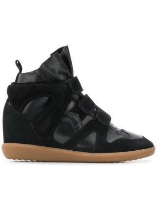 Isabel Marant high top sneakers met sleehak - Zwart