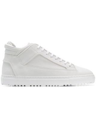Etq. mid-top sneakers met panelen (wit)