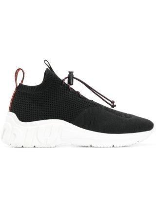 Miu Miu gebreide sneakers van technisch materiaal (zwart)