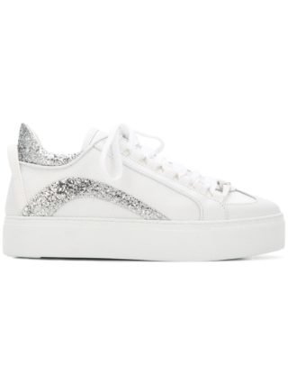 Dsquared2 551 sneakers met plateauzool - Wit