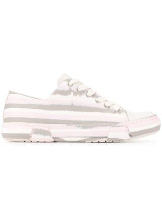 Both Gestreepte sneakers met veters (wit)