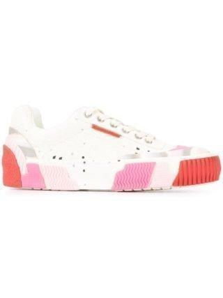 Both Sneakers met geribbelde zool (wit)